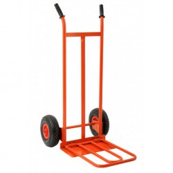 GIERRE GE025 HAND-TRUCK WITH FONDABLE PLATE AND PNEUMATIC WHEELS