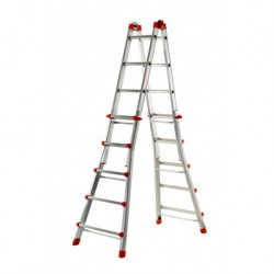 GIERRE PEPPina AL004 ALUMINIM MULTIFUNCTION TELESCOPIC LADDER