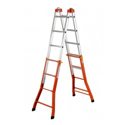GIERRE PEPPina AM020  MIXED STEEL-ALU MULTIFUNCTION TELESCOPIC LADDER