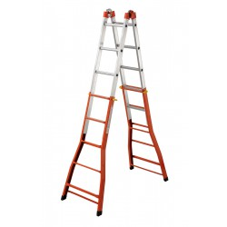 GIERRE PEPPina AM030  MIXED STEEL-ALU MULTIFUNCTION TELESCOPIC LADDER