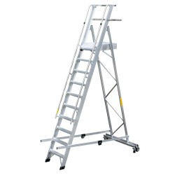 GIERREPRO ALP10 WAREHOUSE LADDER WITH PLATFORM