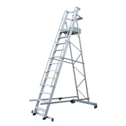 GIERREPRO ALP12 WAREHOUSE LADDER WITH PLATFORM