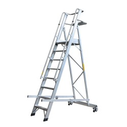 GIERREPRO ALP08 WAREHOUSE LADDER WITH PLATFORM