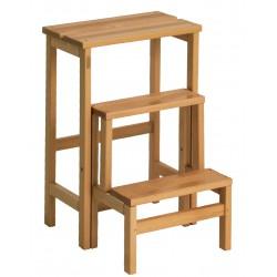 Scaletta-Sgabello in legno Suegiù noce