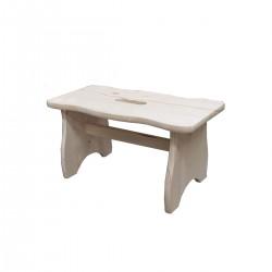 VALDOMO 594 Sgabellino in legno di pino naturale