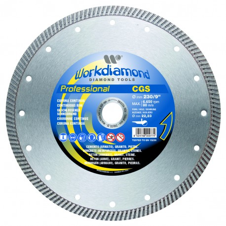 WORKDIAMOND E332115C Diamond disc - Continuous rim