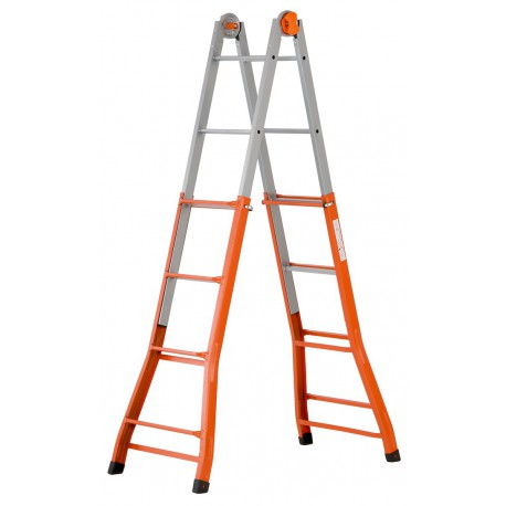GIERRE PEPPina -A0040 STEEL MULTIFUNCTION TELESCOPIC LADDER