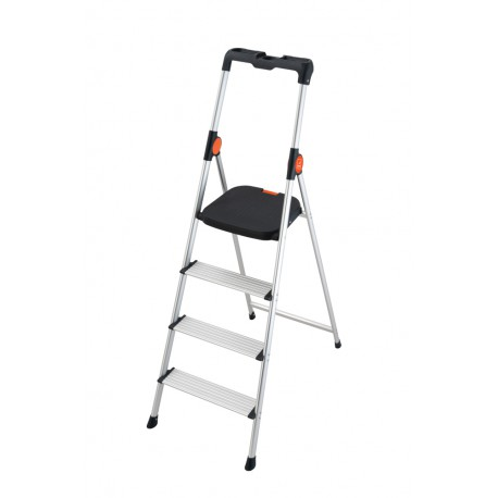 GIERRE SUPERSTEP B222 STEEL STEP STOOL WITH HIGH SAFETY RAIL