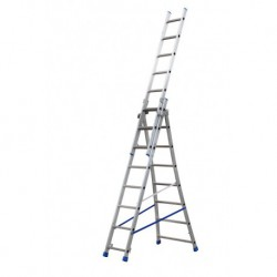 GIERREPRO +ALSP308 3 SECTION EXTENDING LADDER FLARED BASE