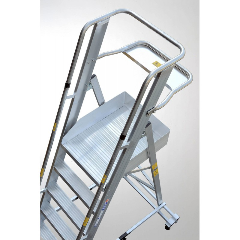 Gierrepro Warehouse Ladder With Platform Made Of